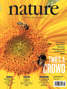 Front cover of Nature magazine