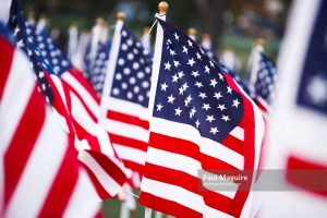 Stars and stripes flags